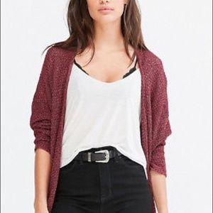 Urban Outfitters BDG Maroon Oversized Cardigan